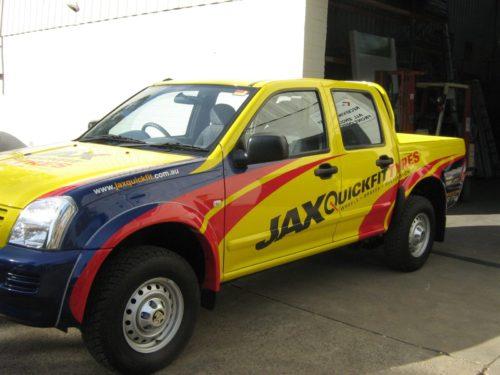 Jax Tyres Vehicle Wrap